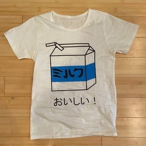 MILK shirt in japanese